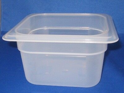 Cambro Plastic Prep Food Table Insert 1/6 X 4 Inch Pan Dishwasher Safe, New