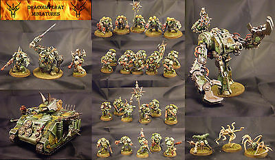 Death Guard Chaos Space Marines Army pro painted full converted Warhammer 40k