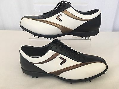 ** Callaway ** Ladies Leather Golf Shoes - Size 5.5 More Like A Size 5.