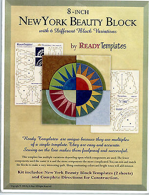 New York Beauty Quilt 8 inch Block Ready Templates K Hess Brand New Package