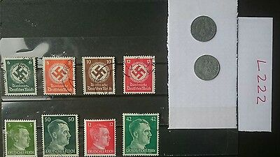 German Ww2 Stamps / Coins, Original, 1939 /45