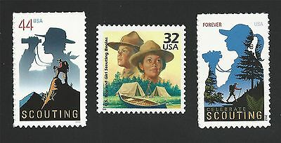 First Boy Scouts and Girl Scouts Formed & Centennial US Stamp Set MINT CONDITION