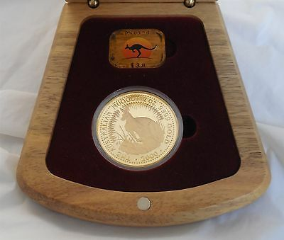 Year 2000 Australia Millennial $200 Two Ounce Gold Nugget Boxed Proof