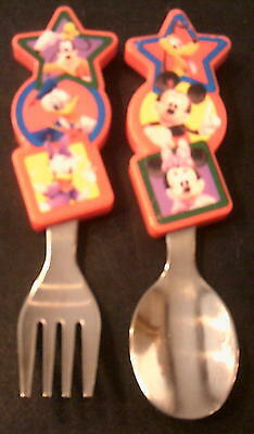 Disney Baby Fork And Spoon Set (Stainless Steel With Plastic Grip Handle)