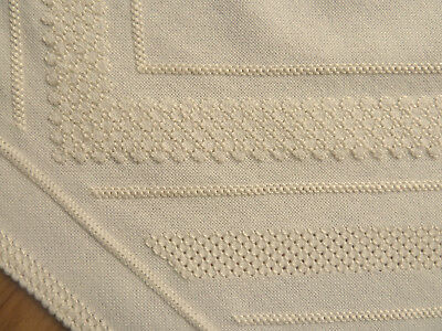 Tablecloth Pulled thread embroidery 24,8 x 25,2 inch beige 100% handmade & New
