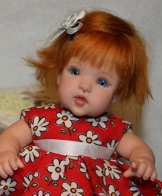 Ooak Sculpted Reborn Miniature Clay Baby Doll Girl by Serena Butterfly  ƸӜƷ