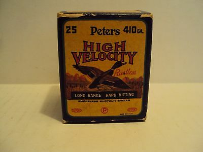 Vintage Peters High Velocity 410 Gauge Shotgun Shell Box
