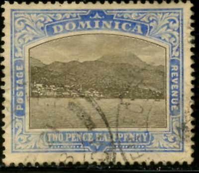 DOMINICA  Sc#38 SG#40 1907 2 1/2p ultra & black Wmk Mult Crown & CA Used