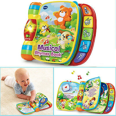Baby Kids Musical Rhyme Book Educational Learning Sound Toddler Music Toy Gift
