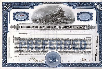 CHICAGO & EASTERN ILLINOIS RAILWAY COMPANY - Preferred Stock Share Certificate