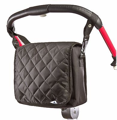 Quilted Carry On Maternity Baby Changing Nappy Bag Pram Shoulder Black