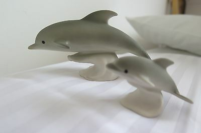 Highbank Pottery Dolphin Mother and Baby set