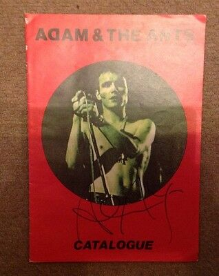 ADAM ANT  -  SIGNED  COL  PROGRAMME - CATALOGUE - 10 x 8 Ins  -  AUTHENTIC
