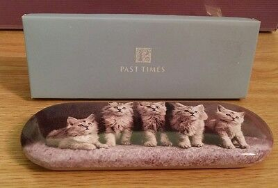 Past Times Victorian Cat Pen and Pencil Tin - Boxed