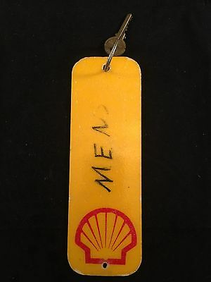 Vintage Shell Station Men's Room Bathroom Key Fob Keychain Approx 9""