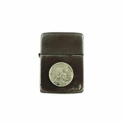 WWII Vintage US Army Black Crackle Nickel Coin Trench Art 3 Barrel Zippo Lighter