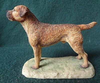 BORDER TERRIER 1983 Figurine By Ayres Border Fine Arts Scotland