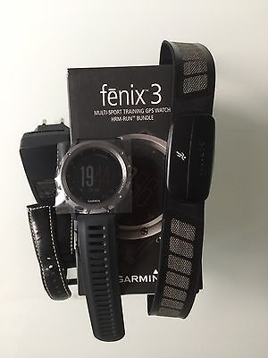 Fenix 3 Multi Sport Training Gps Montre Watch Hrm Run Bundle