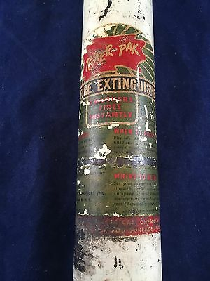 Vintage Power-PAK Fire Extinguisher Fire Department Fire Fighting UNTESTED