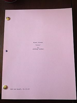 MIAMI MEDICAL TV Pilot Script 60 Pages, LANA PARRILLA, Mike Vogel Great Keepsake