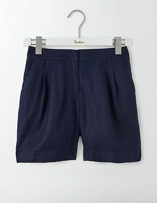 brand new  BODEN  LOTTIE LINEN SHORT  WJ045 SIZE 10 NAVY SHORTER LENGTH WITH TAG