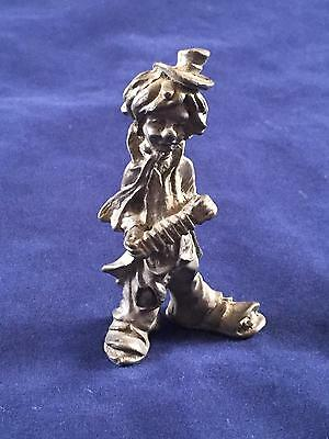 Pewter Miniature Figure Hobo Clown Tophat & Accordion See COMBINED Shipping