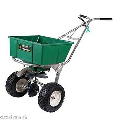 Lesco High Wheel Fertilizer Spreader with Manual Deflector - 80 Lb. Hopper