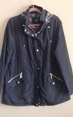 Pre-owned Ladies Papaya Lightweight Jacket With Hood Size 18