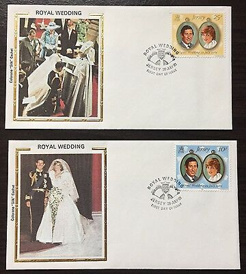 """Jersey #280-1 Royal Wedding FDC on Colorano """"silk"""" Cachets"""