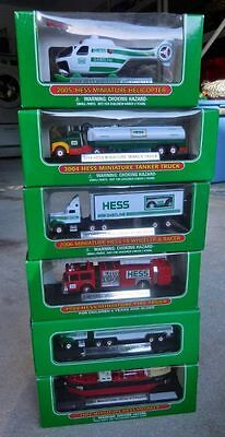 Hess Trucks Miniature Vehicles (6) Voyager Transport Fire Truck Tanker Copter MB