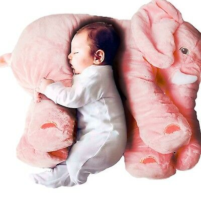 Cute Pillow Elephant Children Soft Plush Toy Doll Baby Kids Nose Cushion Pink