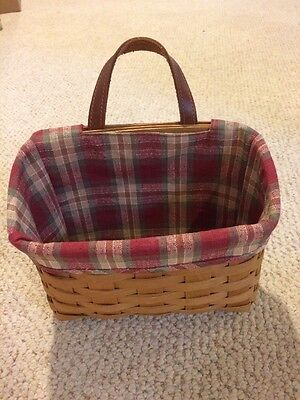 Longaberger Basket With Handle And Liner