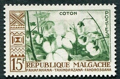 MALAGASY REPUBLIC 1960 15f deep green and brown SG16 mint MH FG Cotton d #W32
