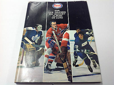 1970-71 NHL Esso Stamp Full set (252) FRENCH RARE Hard Cover + Checklist Order
