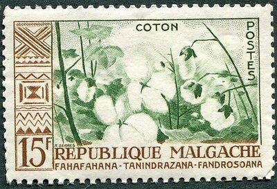 MALAGASY REPUBLIC 1960 15f deep green and brown SG16 mint MH FG Cotton e #W32