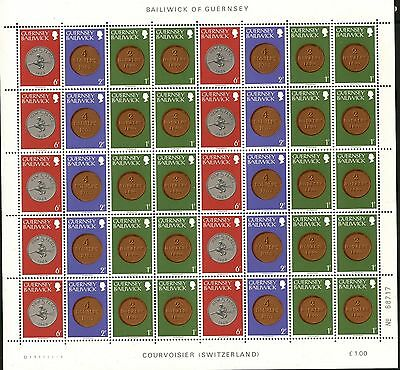 GUERNSEY Sc#178a & 180a SG#178a &179a 1979 Coins Booklets - Two Full Sheets MNH
