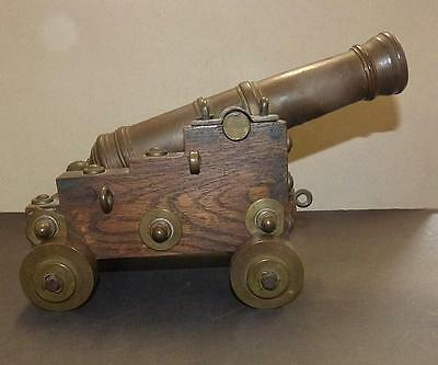 """Bronze Signal Cannon Signed Levesque Taunton Ma Dated 1868 - 11"""" Tube - Vg Cond."""