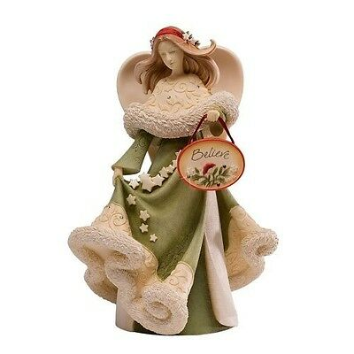 NEW Heart of Christmas Angel Believe Stars Figurine