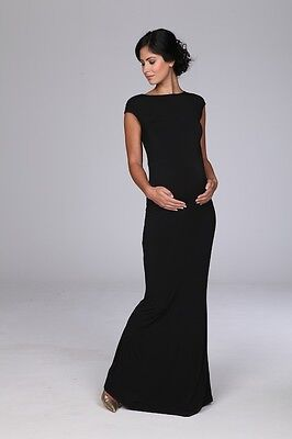 Broody Long Black Maternity Gown Evening Dress