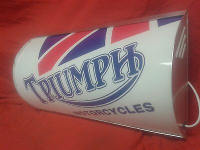 triumph,lightup,sign,illuminated,display,mancave,garage,bonneville,motorbike