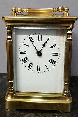 Vintage Brass 8 Day Carriage Clock, Fully Working