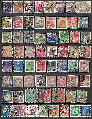 Japan Selection Early Stamps (63) Used Includes Postmarks #3