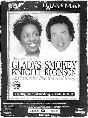 GLADYS KNIGHT and SMOKEY ROBINSON -Ain't Nothing Like the Real Thing Tour - Card