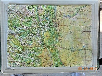 Colorado 3-D Relief Map By Kistler Graphics 1967- Mounted