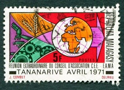 MALAGASY REPUBLIC 1971 5f SG195 used NG Common Market Countries Council #W32