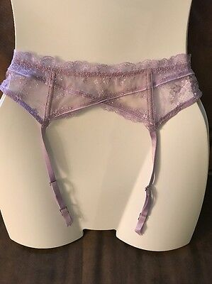 Victoria's Secret Designer Collection Lilac Lace Garter Xs/s Nwt