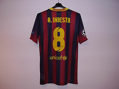 FC Barcelona Andres Iniesta Player Issue Nike Shirt Jersey