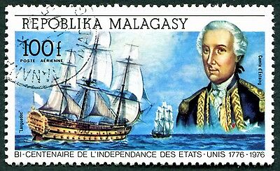 MALAGASY REPUBLIC 1975 100f SG307 used NG American Revolution Bicentenary #W32
