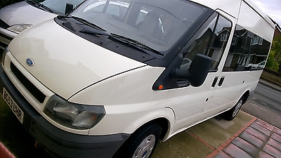 ford transit 12 seat  mini bus REDUCED NEED SPACE.