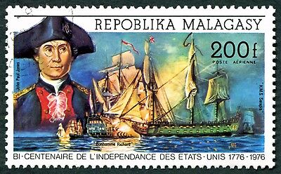 MALAGASY REPUBLIC 1975 200f SG308 used NG American Revolution Bicentenary #W32